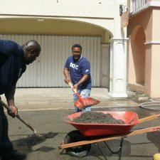Concerned Residents Clean Christiansted Town Using Their Own Tools, Money, and Some Help from the VI Fire Service